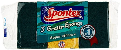 Spontex  Eponges Combinés Grattantes  3 Eponges Gratte Eponge  Lot de 3