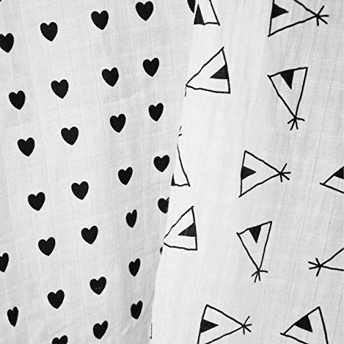 TIXX Kids, ultrasofte Bambus- Pucktücher im 2er Set | 120 x 120 cm groß | atmungsaktiv, antibakteriell und wärmeregulierend | perfekt auch als Puckdecke, Spucktuch, Wickeltuch