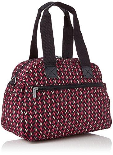 Kipling Defea, Women's Cross-body Bag, Multicolour (Pink Chevron), 15x24x45 Cm (W X H X L)