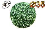 PREMIUM Buchsbaum, große Buchsbaumkugel Ø 35 cm 350 mm grün dunkelgrün , ohne Echtholzstamm (Zubehör Mailanfrage), und Deko Efeuranke + Moos auf Wunsch mit Solarbeleuchtung SOLAR LICHT BELEUCHTUNG (Zubehör) , ohne Terracotta Topf Plastik und stabilem Fuß (Zement) günstige Deko günstiger Schmuckbaum Schmuckbäumchen in Kugelform Kugel feierliche Hochzeitsdekoration Außendekoration Innendekoration Innen- und Außendekoration Hochzeit guter Sichtschutz Pflanzen Balkonpflanzen