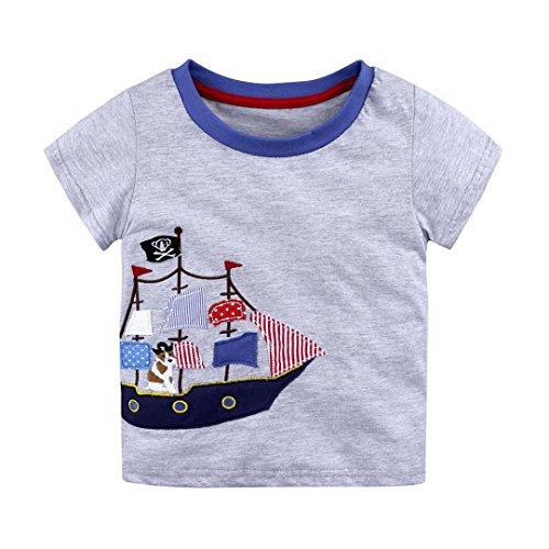 Webla Baby Boys Girls Kids Cartoon Print Summer Tops T Shirts For 1-6 Years Old