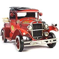VJUKUB Antigüedad 1931 Rojo Fuego camión Modelo hojalata Hecho a Mano Retro Hierro Arte casa decoración decoración Decorativo arreglo fotografía atrezzo 35 * 14 * 15.5 cm