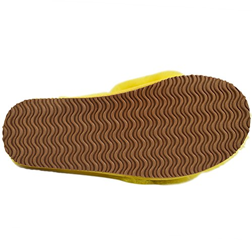 Oasap Femme Eté Tongs Confortable Couleur Bloc Plate-forme Yellow-1