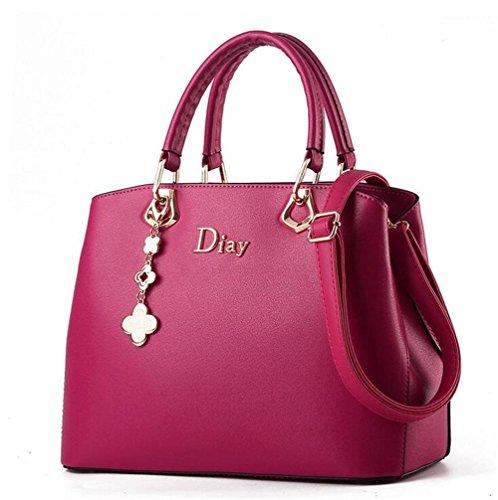 HQYSS Borse donna PU Donne multifunzionale in pelle a tracolla regolabile borsa Messenger Bag , rose red rose red
