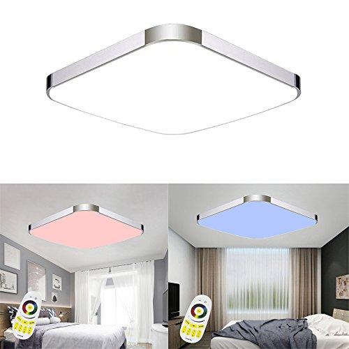 MCTECH 24W RGB Deckenleuchte Modern Deckenlampe Flur Wohnzimmer Lampe Schlafzimmer (24W RGB)