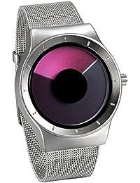 be1b31d6e4b9 JewelryWe Reloj de Cuarzo para Hombre Mujer