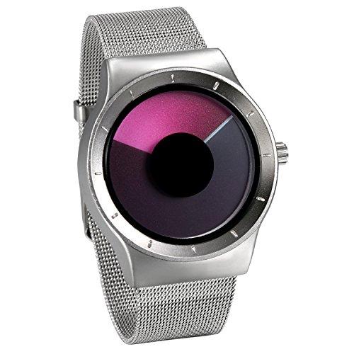 JewelryWe Reloj de Cuarzo para Hombre Mujer, Cambios de Color Indicador Reloj...
