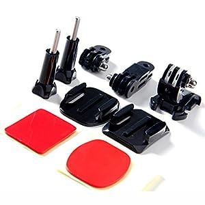 MASUNN Accessoires Casque Set J Crochet Boucle De Fixation Adaptateur De Base Vis Avec Autocollant 3M Pour Gopro Hero 5 4 3 3Plus 2 1 Action Camera