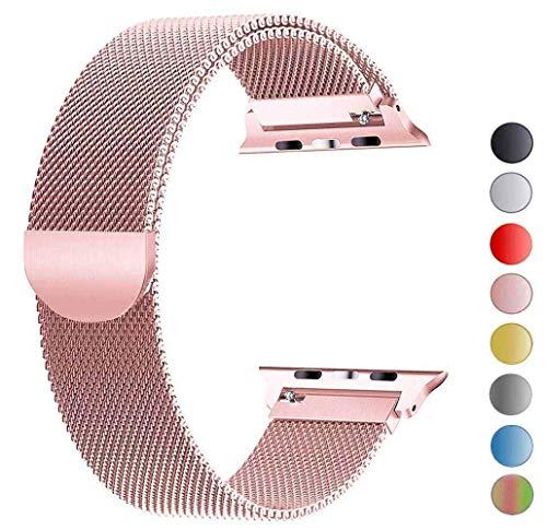 Tervoka Ersatzarmband kompatibel mit Apple Watch 40mm 38mm | Edelstahl Armband | Smartwatch Ersatzarmbänder mit Magnet kompatibel mit iWatch Series 5/4/3/2/1 Rosegold