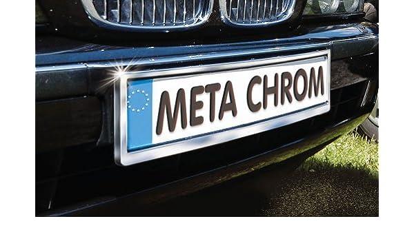 Chrom Nummernschildhalter gewölbt für Fahrzeuge mit gewölbtem Nummerschildträger