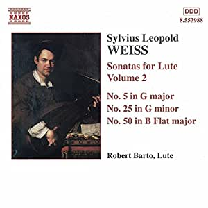 Weiss: Sonatas for Lute, Vol.2