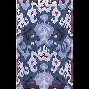 3.5'x 5.5'Desert Tribe Mirage Violet foncé à la lavande et de la zone de couverture-Tapis Tufté à la main