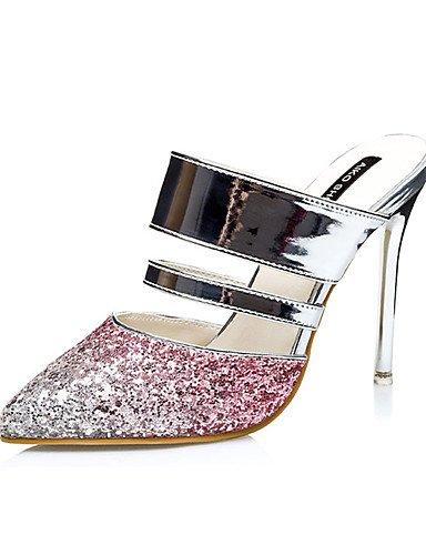 WSS 2016 Chaussures Femme-Décontracté-Bleu / Violet / Rouge / Or-Talon Aiguille-Talons-Talons-Synthétique blue-us5 / eu35 / uk3 / cn34