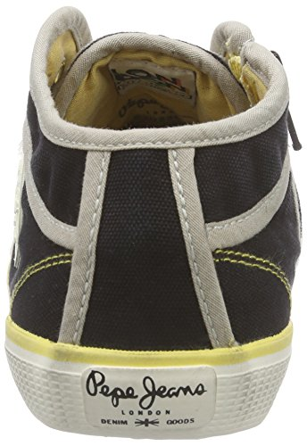 Pepe Jeans Industry Basic16, Baskets hautes femme Noir - Schwarz (999BLACK)
