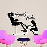 Beauty Salon Aufkleber Haar Art-Frau fashion girl Haarschnitt Friseur Friseursalon Vinyl Wand Aufkleber Aufkleber Wandbild MN469
