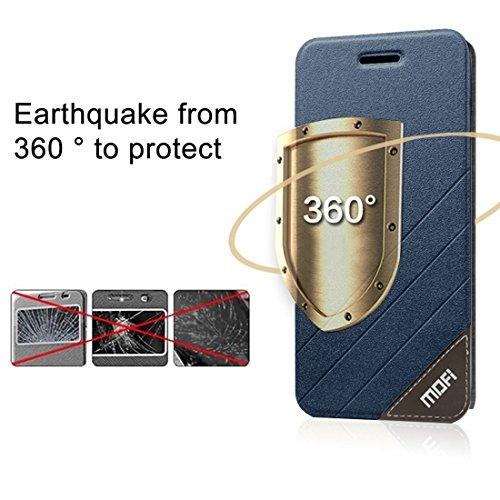 IPhone 6 Fall MOFI nach Maß Schockfestes horizontales Schlag-Leder-Kasten mit Halter für iPhone 6 by diebelleu ( Color : Black ) Dark blue