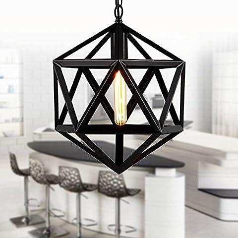 kinine Ferro palla diamante lampadario illuminazione poliedro loft creativo epoca stile country americano lampada ingegneria