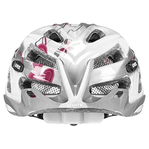 Uvex Onyx 2014 – Damen Fahrradhelm, Gr. XXS-M (52-57cm), Weiss-Rot (white-red) 4145431815 - 4