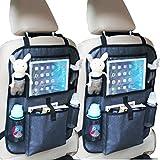 2x Auto Rückenlehnentasche Rücksitztasche Spielzeugtasche (Mit Tablet-Fach)