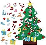 Aparty4u 3ft Feltro Albero di Natale con 26 Staccabili Ornamenti, DIY Regali di Natale di Nuovo Anno per la Decorazione della Parete del Portello dei Bambini
