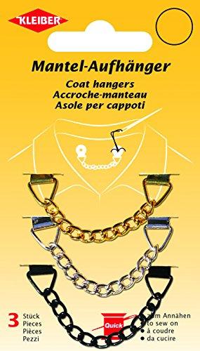 Kleiber Mantelaufhänger aus Metalll, 3-er Set, gold/silber/schwarz