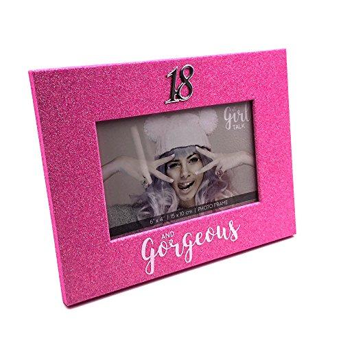 18ème anniversaire Rose Paillettes Cadre photo 10,2 x 15,2 cm dans une boîte cadeau
