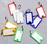 SystemsEleven 12 KEY TAGS PLASTIC ASSORTED KEY RINGS COLOURED PLASTIC ID TAGS NAME LABEL FOB