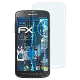 atFolix Panzerfolie für Samsung Galaxy S4 Active Folie - 3 x FX-Shock-Clear stoßabsorbierende ultraklare Displayschutzfolie