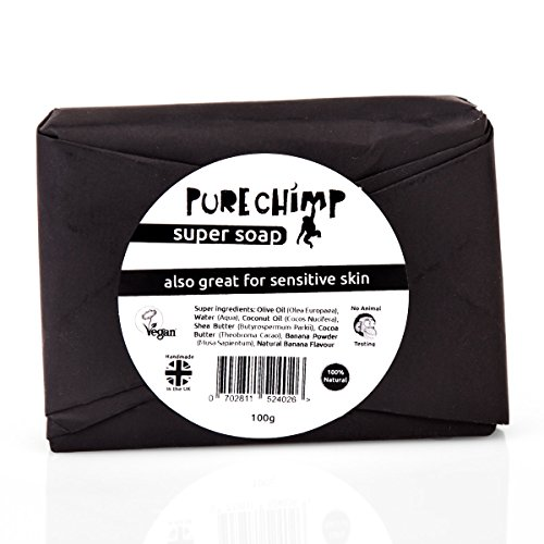 Natural Soap Bar 100g by PureChimp - Super Soap - Handmade In The UK & Vegan - Vanilla Bananas