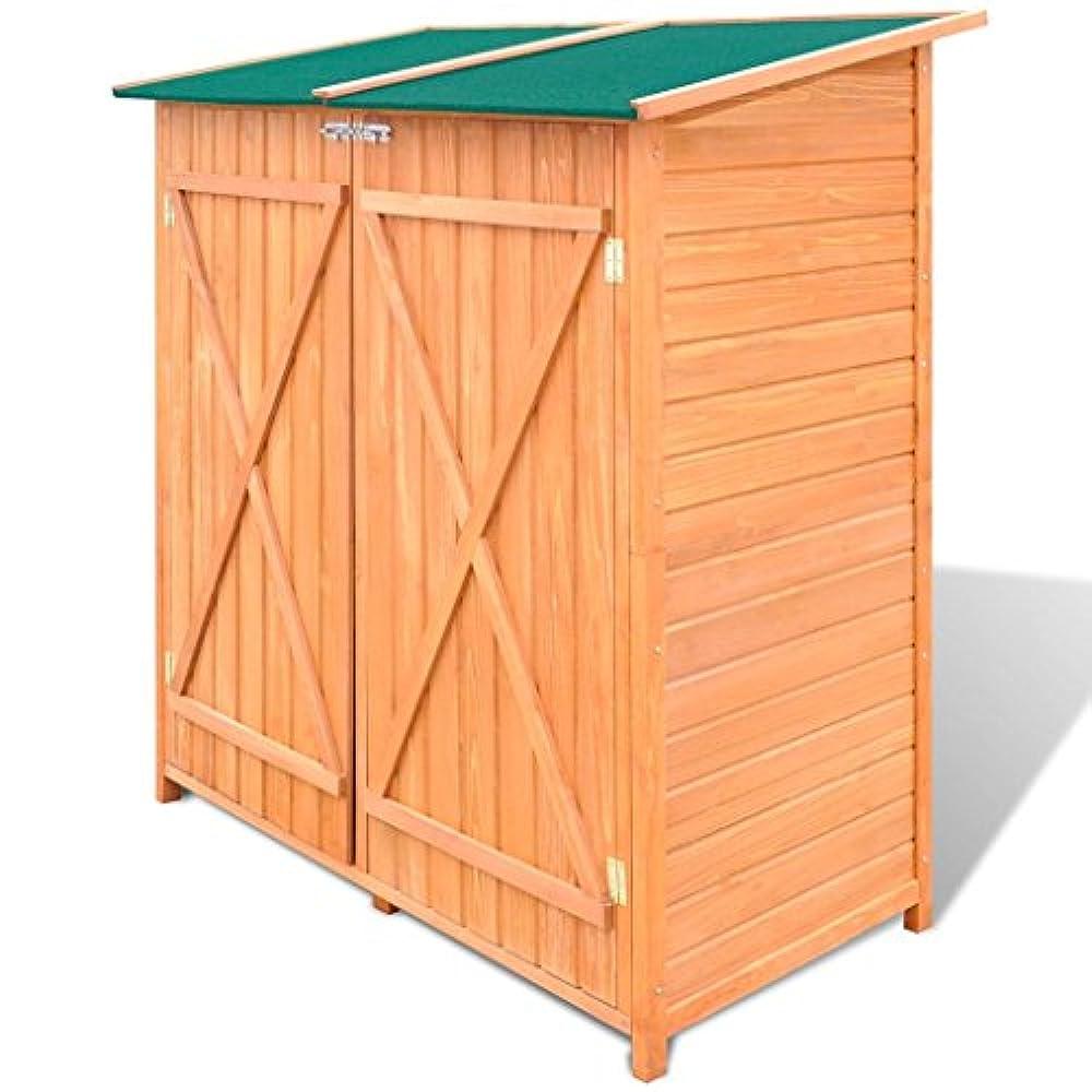 vidaXL HOLZ Gerätehaus Geräteschuppen Gartenschrank Geräteschrank Lagerhaus