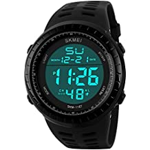 oumosi Hombres Digital del deporte electrónico LED impermeable reloj de pulsera