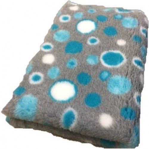 Vet Bed Hundedecke, grau/blau Doppelpack Topmast 2x150/100cm Antirütsch, Antislip