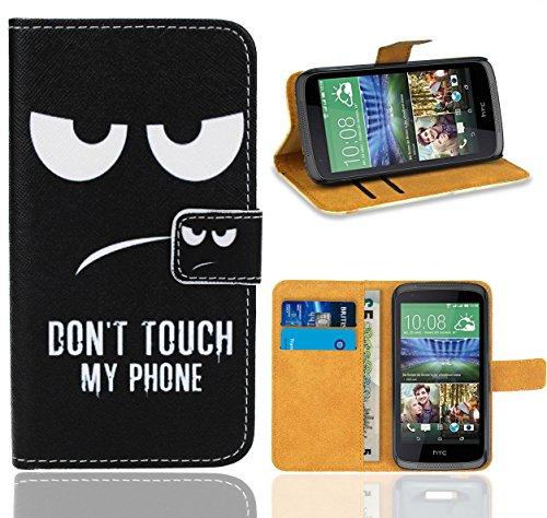 HTC Desire 526 526G Handy Tasche, FoneExpert Wallet Case Flip Cover Hüllen Etui Ledertasche Lederhülle Premium Schutzhülle für HTC Desire 526 526G