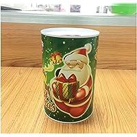Preisvergleich für Heylookhere Sparschwein-Bank Weihnachten Geld Bank Zylindrische Weißblech Kann Piggy Bank (Green Santa Claus)