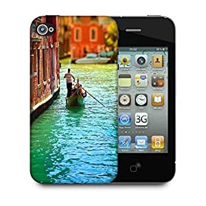 Snoogg Small Boat Designer Protective Phone Back Case Cover For Apple Iphone 4