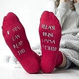 Personalised Please Bring Prosecco Glitter Socks