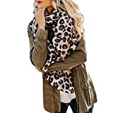 Bufanda Leopardo invierno mujer,STRIR Otoño e invierno leopardo de imitación cachemira calor engrosamiento señoras bufanda chal