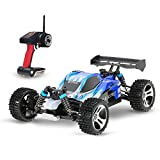 GoolRC Upgraded A959 1/18 Scale RC Car 50km/h High Speed RTR Car with 2.4G Remote Control 4WD Electric RTR Off-Road Buggy RC Car(Blue)