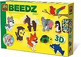 SES Creative - Cuentas para Planchar Animales en 3D, (06126)
