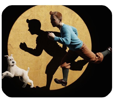 """The Adventures Of Tintin Mousepad Personalized Custom Mouse Pad Oblong Shaped In 9.84\""""X7.87\"""" Gaming Mouse Pad/Mat"""