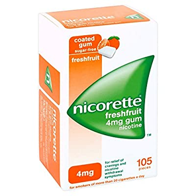 Nicorette Chewing Gum 4mg Freshfruit - 105 Pieces by Nicorette