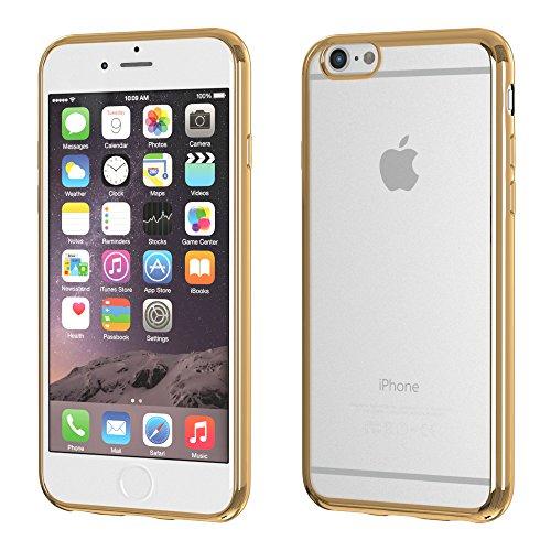 iPhone 8 Hülle / iPhone 7 Case - EAZY CASE Chrom Cover für Apple iPhone 7 & iPhone 8 - Edles Smartphone Case als Schutzhülle Metallic Design in Rosa Gold