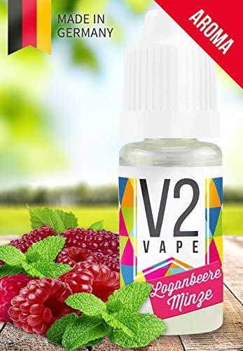 Liquid Cool Mint (V2 Vape Loganbeere-Minze AROMA / KONZENTRAT hochdosiertes Premium Lebensmittel-Aroma zum selber mischen von E-Liquid / Liquid-Base für E-Zigarette und E-Shisha 10ml 0mg nikotinfrei)