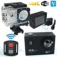 LufraFIT - Action Cam 4K WIFI cámara de acción deportiva Full HD 16 MPixel gran angular 170 ° LCD 2.0 pulgadas profesional funda impermeabl