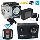 MYCAM4 Action Cam 4K WIFI Sport Action Kamera Full HD 16 MPixel Weitwinkel 170 ° LCD 2.0 Zoll Professional Waterproof Case mit Zubehör Kit für Schwimmen Radfahren und andere Outdoor-Sportarten