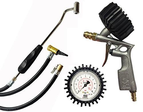 Reifenfüller Set mit Ventilstecker, Hebelstecker und Tankstellenstecker - Kupplungssystem Test