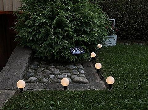 Lot de 6(= 6pièces) décoratifs Lampadaire/Lampe de jardin/pathlights–Solaire LED avec