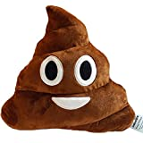 PONATIA 13'' Poop Kissen Emoji Smiley Cute Expression Kinder Stofftier 33 cm Kackhaufen Brown Smile Poop