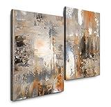 Sinus Art Abstrakt 120x80cm 2 Kunstdrucke je 70x60cm Kunstdruck modern Wandbilder XXL Wanddekoration Design Wand Bild