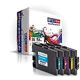 4er multiPack kompatible Druckerpatronen mit Chip zu Ricoh GC31 schwarz, cyan, magenta, gelb für Ricoh Aficio GX e2600 e3300N